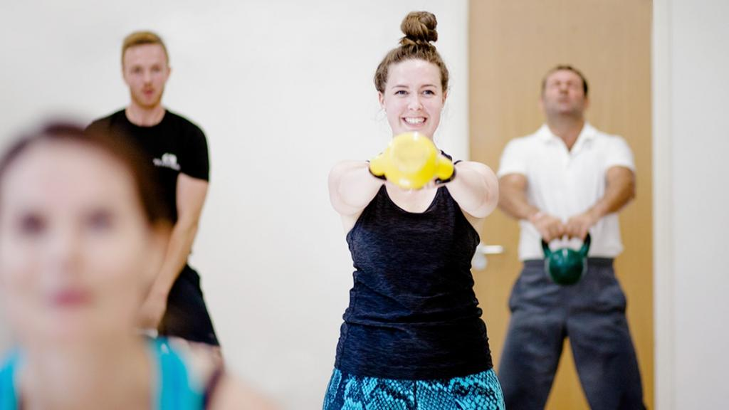 YMCAfit students learning what it takes to become a fitness instructor