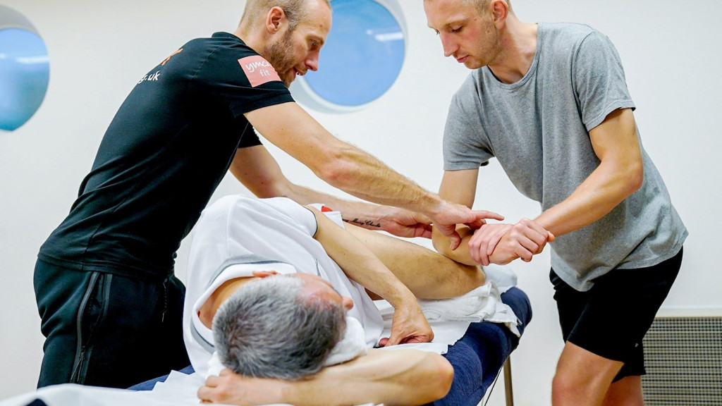 Level 3 Sports Massage practical module element delivered at our London One KX learning studio