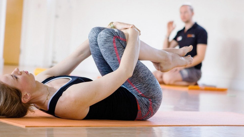 Level 3 Diploma in Yoga course students undertaking practical module elements