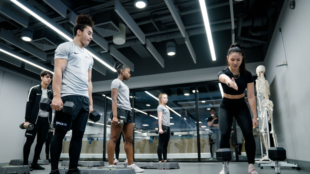 Fitness Training Academy learners Nike training session